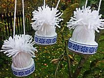 Dekorácie - Čiapočky biele, ľudové - 6045095_