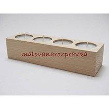 Polotovary - masívny stojan na 4 sviečky - 6041656_