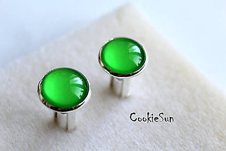 Šperky - Manžetové gombíky Shiny Green - 6041505_