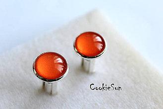 Šperky - Manžetové gombíky Shiny Orange - 6041506_