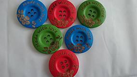 Drevené gombíčky MADE WITH LOVE (balíček 10ks)