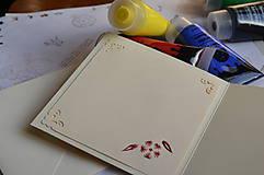 Papiernictvo - Vyšívaná pohľadnica - zvonček - 6042852_