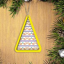 Dekorácie - Folk vianočné ozdoby 100% autorská tvorba (vianočný stromček 3) - 6042347_