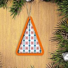 Dekorácie - Folk vianočné ozdoby 100% autorská tvorba (vianočný stromček 4) - 6042353_