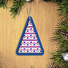 Dekorácie - Folk vianočné ozdoby 100% autorská tvorba (vianočný stromček 6) - 6042355_