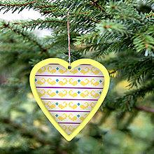 Dekorácie - Folk vianočné ozdoby 100% autorská tvorba (srdiečko 1) - 6045417_