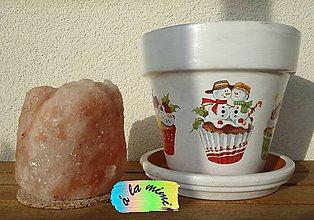 Nádoby - Vianočný kvetináč Muffinky špeciál - 6048385_
