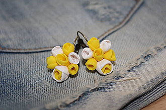 Náušnice - Kytica kvetov 6 - 6047353_
