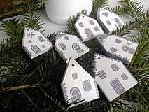 - Domčeky, sada vianočných ozdôb - 6048615_