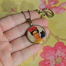 Náhrdelníky - Frida n.1 náhrdelník - průměr 25 mm - 6047997_