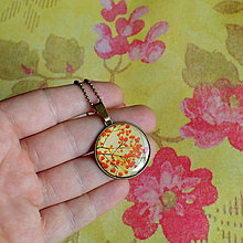 Náhrdelníky - Rose Hips - náhrdelník - průměr 25 mm - 6048045_