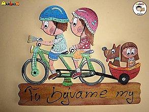 Tabuľky - Menovka - rodinka na bicykli - 6050300_