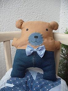 Hračky - medvedík Bubu v riflových nohaviciach - 6047074_