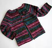 Detské oblečenie - Melírovaný svetrík s kvetom - 6047933_
