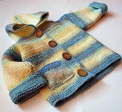 Detské oblečenie - Chlapčenský svetrík v pastelových farbách - 6046743_