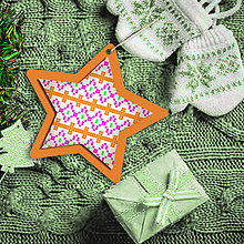 Dekorácie - Folk vianočné ozdoby 100% autorská tvorba (hviezdička 2) - 6049248_