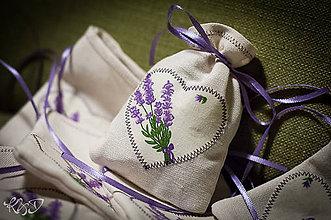 Úžitkový textil - Vrecúška plnené levanduľou - 6053845_