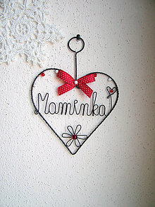 Dekorácie - srdiečko pre maminku - 6051203_