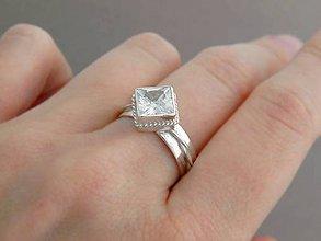 Prstene - 925 Strieborný prsteň zirkón Snehová kráľovna - 6054774_