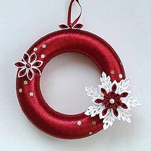 Dekorácie - Vianočný veniec na dvere rôzne farby - 6051538_