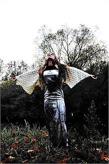 Šaty - Stromy-autorská látka - 6054193_