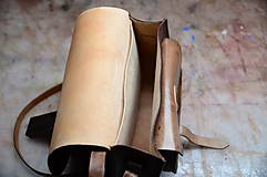 Kabelky - kabelka kožená lovecká /saddle bag ARTEMIS, vzor Folk, hnedý antique - 6054872_
