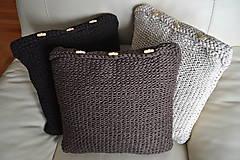 Úžitkový textil - Hnedý vankúš - 6052397_