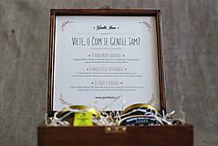 - Exkluzívny drevený box na Gentle Jam dobroty - 6053139_