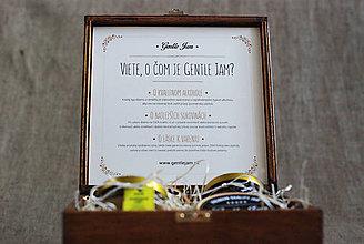 Nezaradené - Exkluzívny drevený box na Gentle Jam dobroty - 6053139_