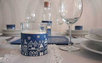 Svietidlá a sviečky - Stojančeky s vanilkovými sviečkami v skle - 6053946_