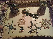 Dekorácie - Vianočné ozdoby z pediga - 6054078_
