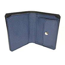 Tašky - Pánska kožená peňaženka - Modrá - 6059671_