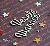 Polotovary - Papierový výrez Veselé Vianoce 1 - 6055599_