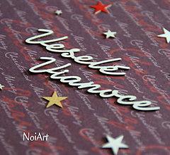 Papier - Papierový výrez Veselé Vianoce 2 - 6055611_