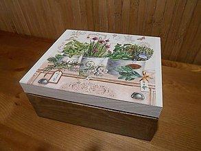 Krabičky - bylinková na čaje - 6057631_