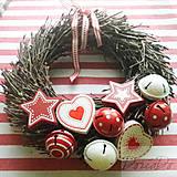 Dekorácie - vianočný veniec - 6056972_