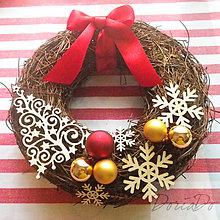 Dekorácie - vianočný veniec - 6057014_
