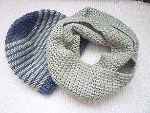 Doplnky - pánska čiapka a šál - 6056683_