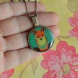 - Foxes - náhrdelník průměr 25 mm - 6058044_