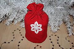 Úžitkový textil - Vianočné vrecúško - 6058581_