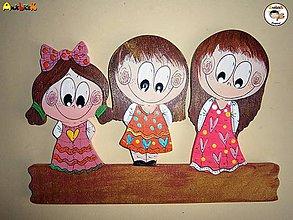 Tabuľky - Menovka - trojica dievčatá - 6058166_