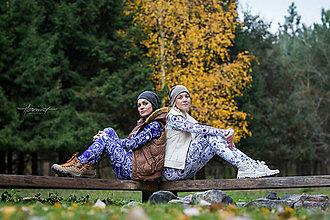 Mikiny - Folky blue & Folky white - 6059690_