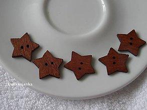 Galantéria - Drevené hviezdičky - hnedé - 6055985_