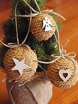 - Vintage vianočné gule - sada 3ks - 6055870_