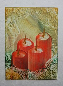 Papiernictvo - Vianočný pozdrav - advent - 6056883_