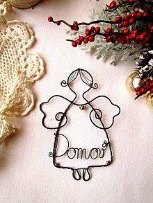 Dekorácie - anjelik domova - 6055185_