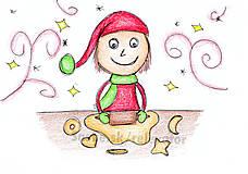 Kresby - Vianočný pajác - 6056296_