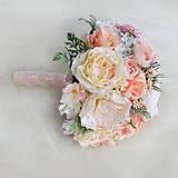 Kytice pre nevestu - Svadobná kytica jemná pastelová - 6061406_