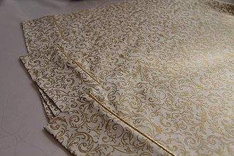 Úžitkový textil - prestieranie 40x30cm zlato - biela - 6065134_