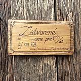 - Tabuľka z dreva na želanie ;-) - 6061618_
